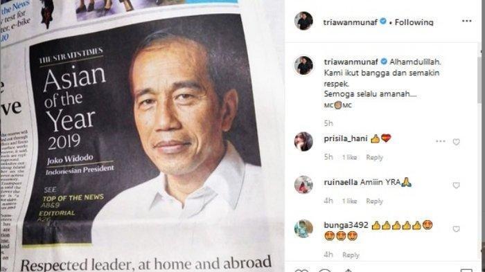 Dapat Penghargaan Asian of the Year 2019 The Straits Times Singapura, Jokowi Sebut Untuk Indonesia