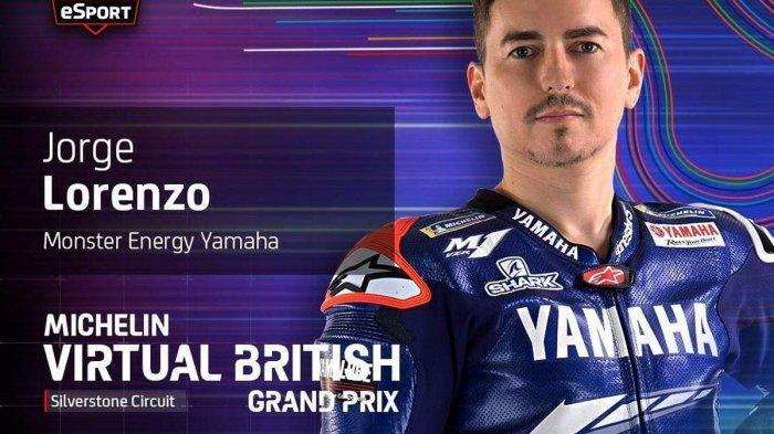 Jadwal MotoGP Virtual Seri ke 5 GP Inggris, Duo Marquez & Valentino Rossi Absen, Jorge Lorenzo Main