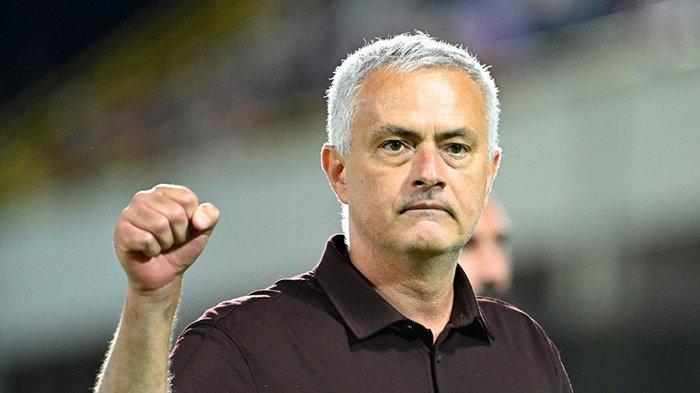 Jose Mourinho, pelatih AS Roma asal Portugal setelah pertandingan lawan Salernitana