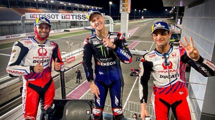 Hasil MotoGP Doha 2021, Fabio Quartararo Juara, Duo Pramac Podium 2-3, Valentino Rossi Finish 16