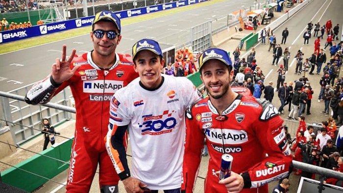 Hasil MotoGP Prancis, Kalahkan Duo Ducati, Marc Marquez Juara, Valentino Rossi Finish ke 5