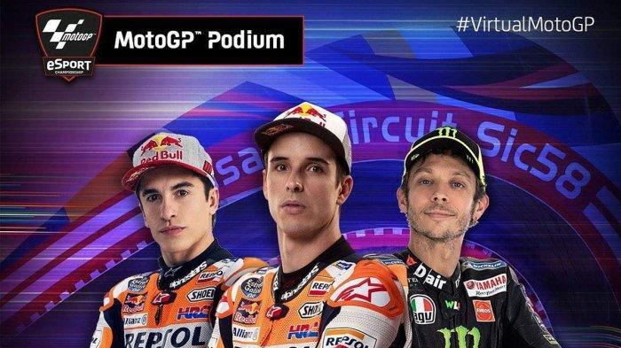 Hasil MotoGP Virtual GP Italia, Duo Marquez Kuasai Podium 1 dan 2, Valentino Rossi Finish Ketiga