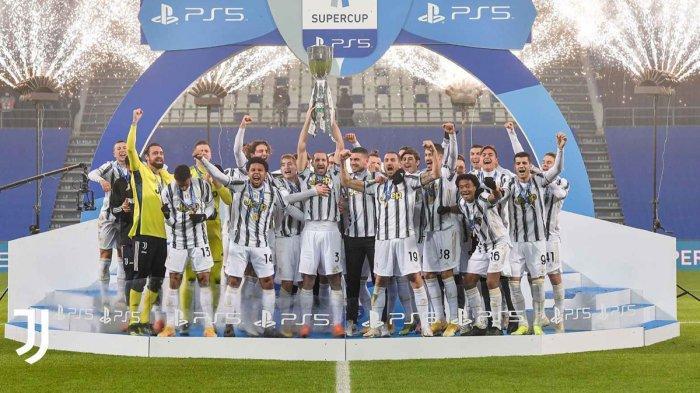 Juventus juara Piala Super Italia 2021 setelah mengalahkan Napoli dengan skor 2-0, Rabu (20/1/2021) malam atau Kamis dinihari WIB
