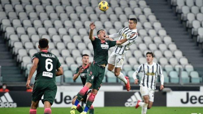 Hasil Liga Italia - Cristiano Ronaldo Cetak Brace, Juventus Ungguli Crotone di Babak Pertama