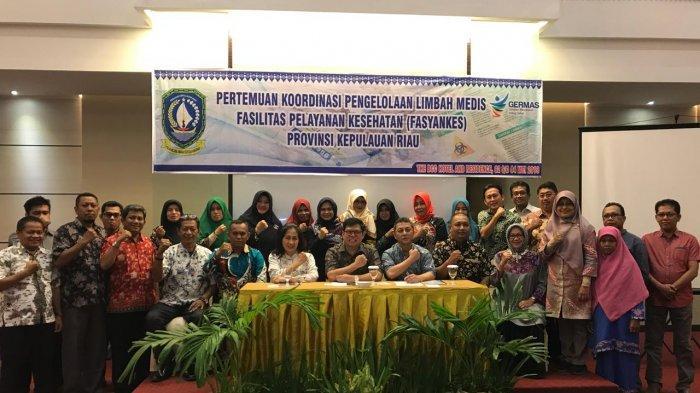 Pertemuan Koordinasi Pengelolaan limbah Medis Fasyankes Tingkat Provinsi Kepulauan Riau