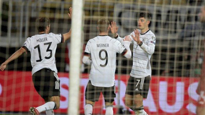 Makedonia Utara vs Jerman, Timo Werner 2 Gol, Kai Havertz 1 Gol, Jerman Menang 4-0