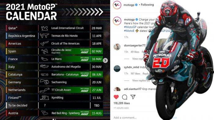 Jadwal MotoGP 2021 Mulai 28 Maret di MotoGP Qatar, MotoGP Indonesia di Mandalika Masuk Daftar