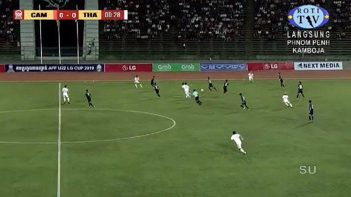 SEDANG BERLANGSUNG! Live Streaming Kamboja vs Thailand Semifinal Piala AFF U22 2019, Mulai 18.30 WIB