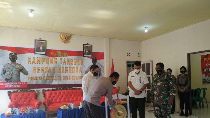 Polres Natuna Resmikan Kampung Tangguh Bersih Narkoba Jelang Hari Bhayangkara