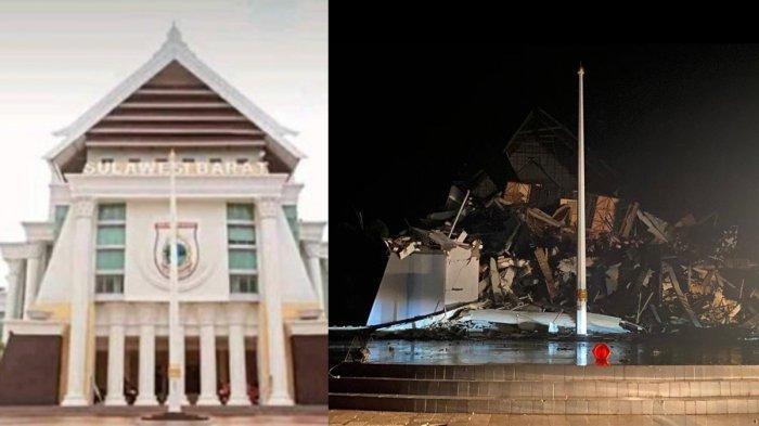 Gempa Majene - Kantor Gubernur Sulawesi Barat yang hancur diguncang gempa 6.2 SR pada Jumat (15/1/2021) dinihari WIB