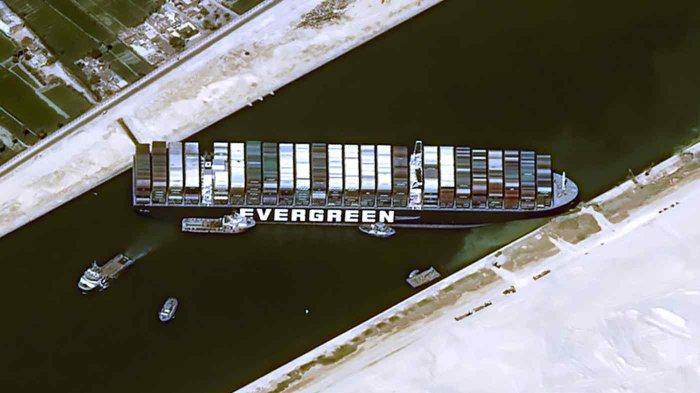 Ada Fakta Baru Terkait Insiden Kapal Ever Given di Terusan Suez, Bukan  Karena Terseret Angin - Tribun Batam
