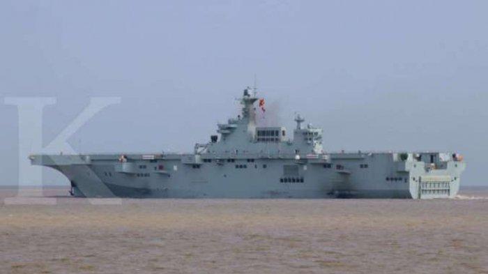 Kapal perang China berlayar di Laut China Selatan