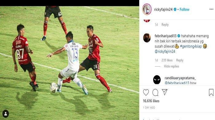 Kapten Bali United Kode Febri Hariyadi di IG, Pemain Persib Bandung Diincar Tim Serdadu Tridatu?