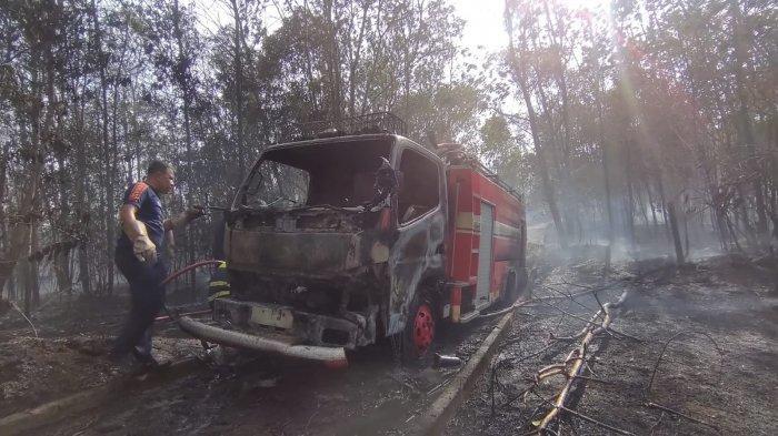 TRAGIS! Niat Padamkan Kebakaran, Mobil Pemadam Kebakaran Malah Hangus, Begini Nasib Sopirnya