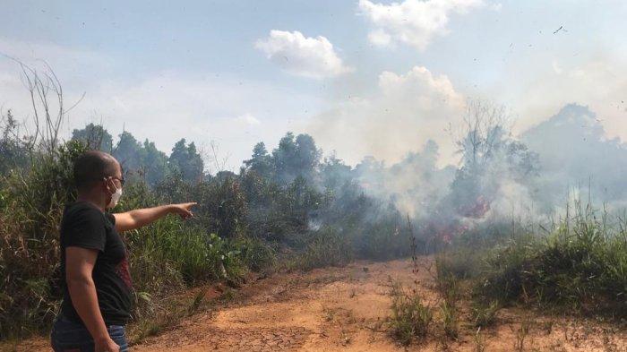 Karhutla di Kepri, Api Muncul di Belakang Kantor Kejari Bintan Hingga Tutup Jalan