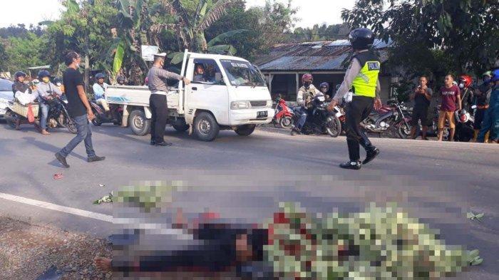 Kecelakaan di Jalan Akses Sei Temiang, Pawang Hujan Samijo Tewas di Tempat Tertabrak Truk