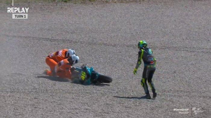 Hasil FP2 MotoGP Jerman 2021, Rossi dan Marini Kecelakaan, Miguel Oliviera Tercepat