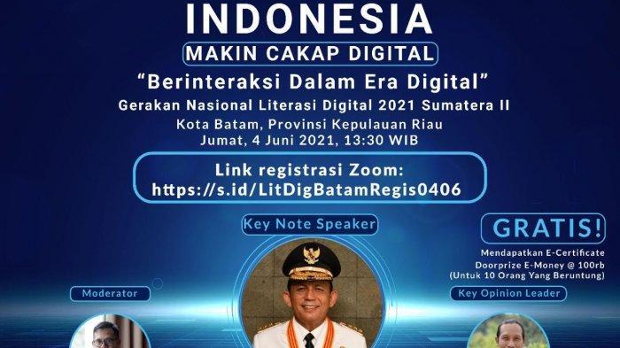 Kominfo Gelar Gerakan Nasional Literasi Digital di Kepri, Bahas Solusi UMKM Hadapi Pandemi