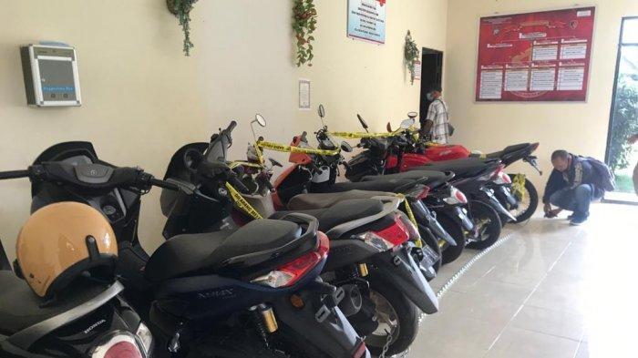 Sejumlah sepeda motor hasil penggelapan yang diamankan di Polres Bintan. Berkas perkara itu, kini telah dilimpahkan ke Kejari Bintan meski baru pelimpahan tahap I.