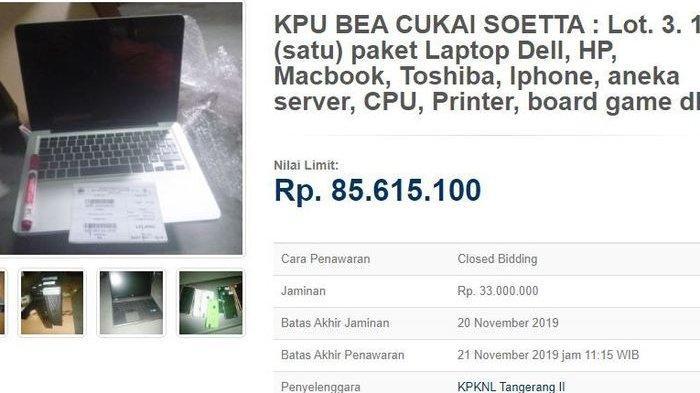 Paket Gadget Sitaan Dilelang Kemenkeu, iPhone Hingga MacBook Mulai Rp 85 Juta, Tertarik?