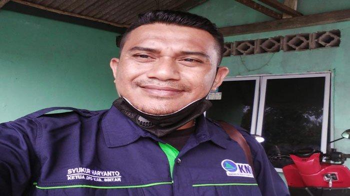 Ketua Kesatuan Nelayan Tradisional Indonesia (KNTI) Bintan, Syukur Harianto.
