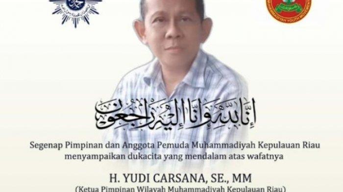 Ketua Pimpinan Muhammadiyah Provinsi Kepri Tewas Dalam Kecelakaan, Ini Kata Polres Tanjungpinang