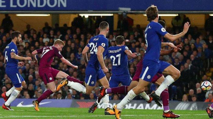 GOL! Kevin de Brunye Cetak Gol Indah. Manchester City Unggul Atas Chelsea