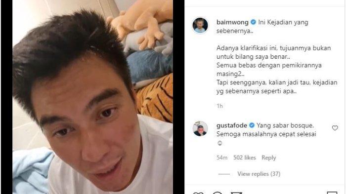 Baim Wong Klarifikasi Soal Sikapnya ke Seorang Kakek-kakek, Suami Paula: Saya Kurang Suka