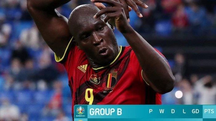 Hasil, Klasemen, Top Skor Piala Eropa 2020 Setelah Belgia Menang, Denmark Kalah, Lukaku 2 Gol