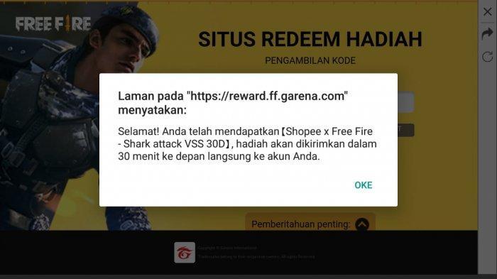Daftar Kode Redeem Free Fire Hari Rabu 11 Agustus 2021, Tukar dan Dapatkan Hadiah Gratis