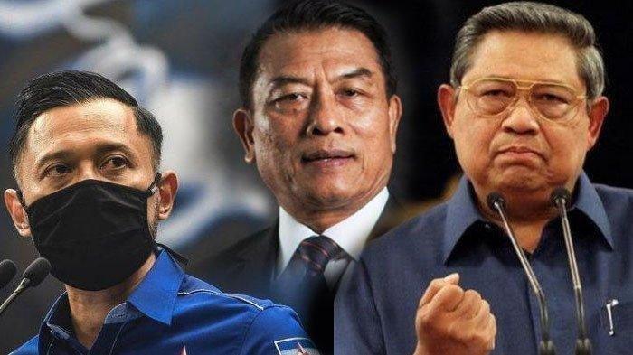 Kolase Foto AHY, Moeldoko, dan SBY