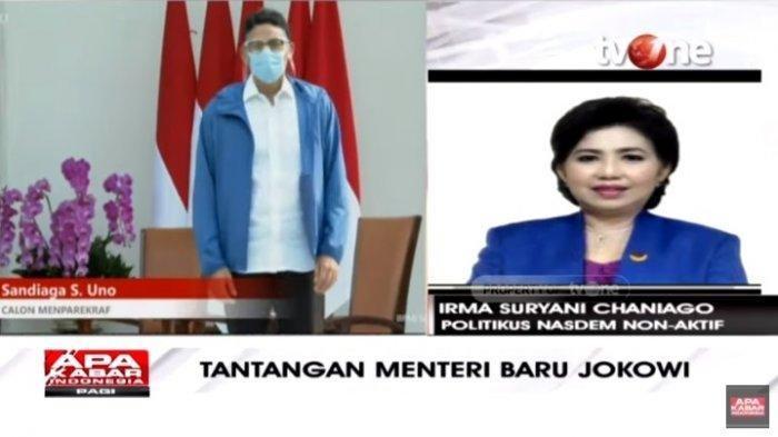 Rival di Pilpres 2019, Sandiaga & Prabowo Kini Menteri Jokowi, Irma Chaniago Sindir Fadli Zon