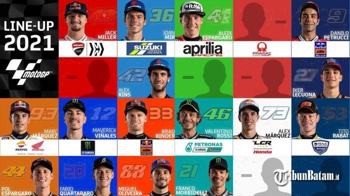 UPDATE  Daftar Pebalap MotoGP 2021 Setelah Valentino Rossi Gabung Petronas Yamah SRT