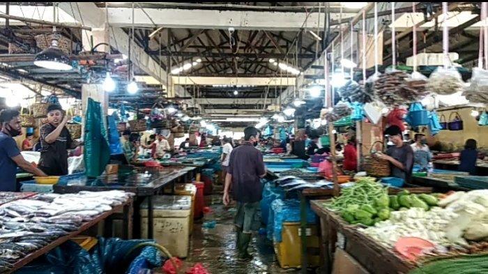 Meski Terpantau Sepi, Warga di Pasar I Tanjungpinang Masih Enggan Pakai Masker saat Pandemi Corona