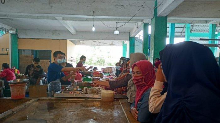 PASAR PUAN MAIMUN - Kondisi Pasar Puan Maimun, Kabupaten Karimun, Provinsi Kepri, Selasa (11/5/2021).