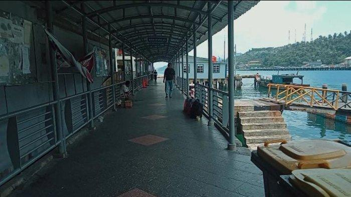 Pelabuhan Pemda Anambas Sepi Penumpang Meski Kondisi Cuaca Kondusif