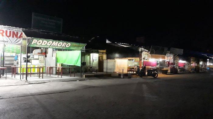 Pujasera Tiban Centre Batam Sepi Pengunjung Imbas Jam Malam Cegah Covid-19