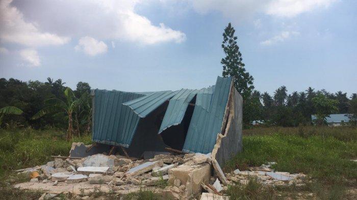 Kondisi rumah di Kampung Jabi Nongsa Batam yang digusur, Rabu (31/3/2021).