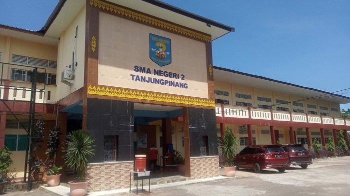 Kondisi di SMAN di Tanjungpinang tampak lengang, Senin (6/7/2020).