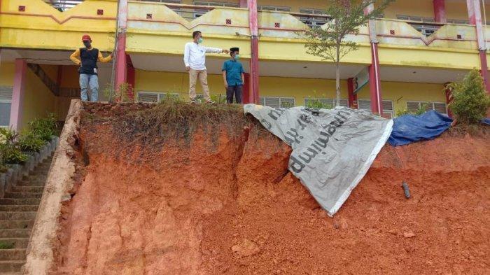 SMAN 21 Kabil Batam Terancam Roboh, DPRD Kepri Soroti Kerja OPD Bangun Batu Miring