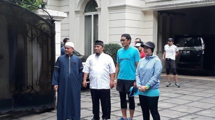 Aktivitas Sandiaga Uno Usai Sakit, Lari 5 Km hingga Temani Anak Latihan Pencak Silat