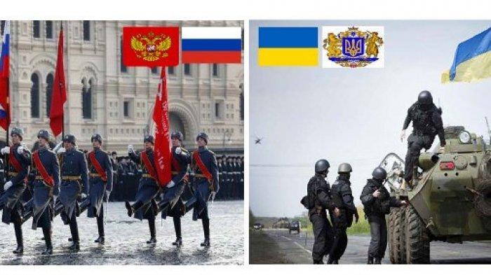 Kirim 4000 Tentara ke Perbatasa, Konflik Rusia Vs Ukraina Bisa Picu Perang Eropa : Kolase  tentara Rusia Vs Ukraina (Ilustrasi)