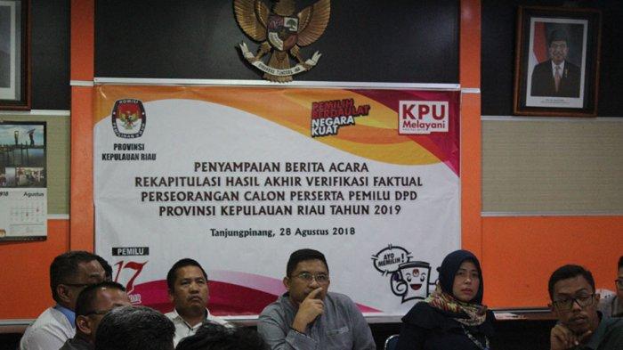 Maju DPD, Kader Parpol Harus Mundur dari Kepengurusan Partai. Begini Penjelasan KPU Kepri