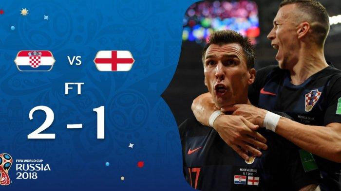 Hasil Kroasia vs Inggris - Inggris Kalah. Kroasia ke Final. Gol Mario Mandzukic Jadi Penentu