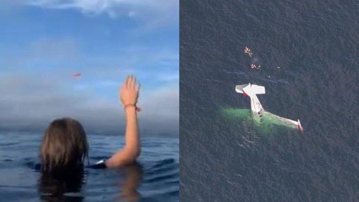 Detik-detik Jatuhnya Pesawat Seharga Rp 3,5 Miliar di Perairan Half Moon Bay, Ini Videonya
