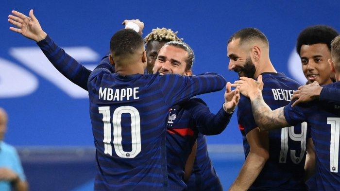 Hasil Ujicoba Prancis vs Wales, Benzema Gagal Penalti, Mbappe & Griezmann Cetak Gol Prancis Menang
