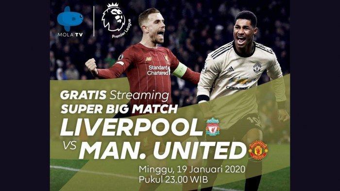 Link Live Streaming Liverpool vs Man United, Live TVRI Pukul 23.30 WIB, MU Tak Merasa Underdog