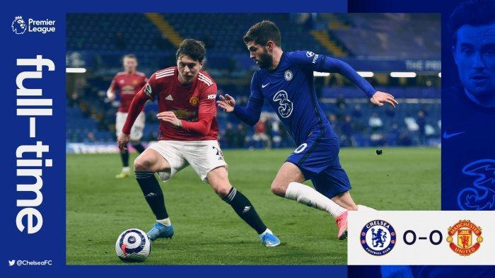 Hasil Chelsea vs Manchester United - Laga bigmatch Chelsea vs Manchester United berakhir dengan skor 0-0, Minggu (28/2/2021).