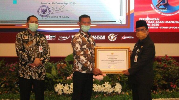 PERDANA, Lapas Kelas III Dabo Singkep Terima Penghargaan Menkumham Yasonna Laoly