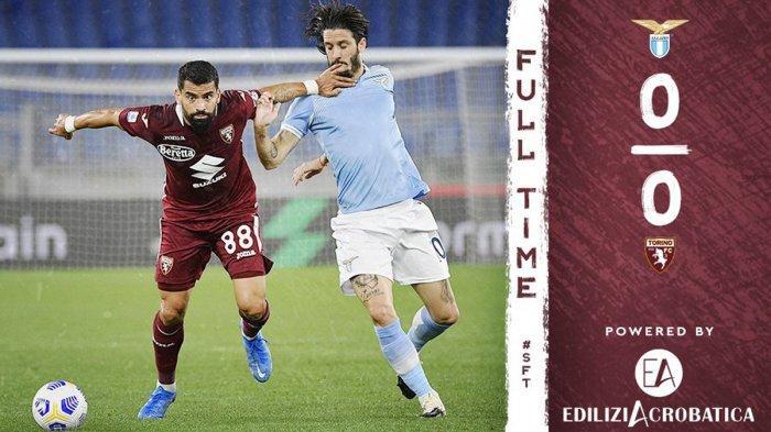 Hasil Lazio vs Torino, Laga Berakhir Imbang, Torino Bertahan di Serie A, Benevento Degradasi